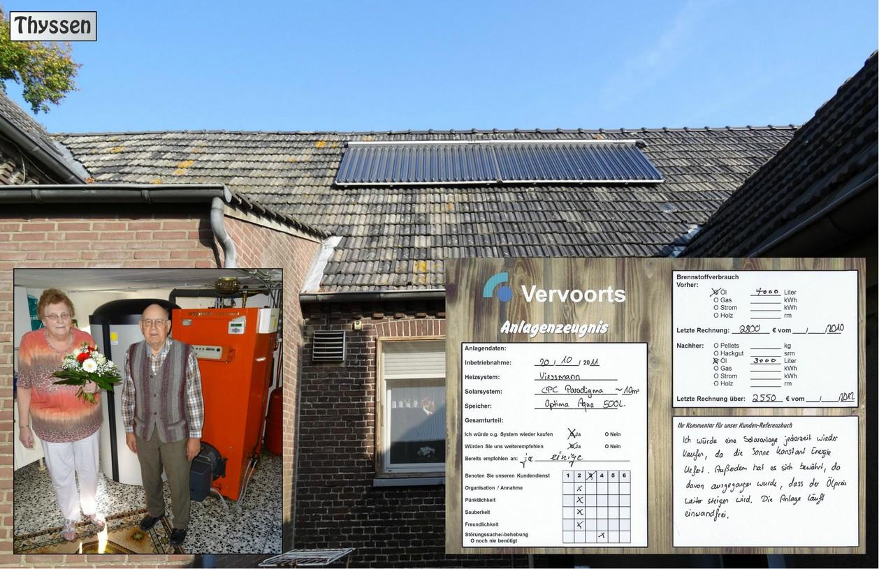 Kundenreferenz Solaranlage von Vervoorts Kleve