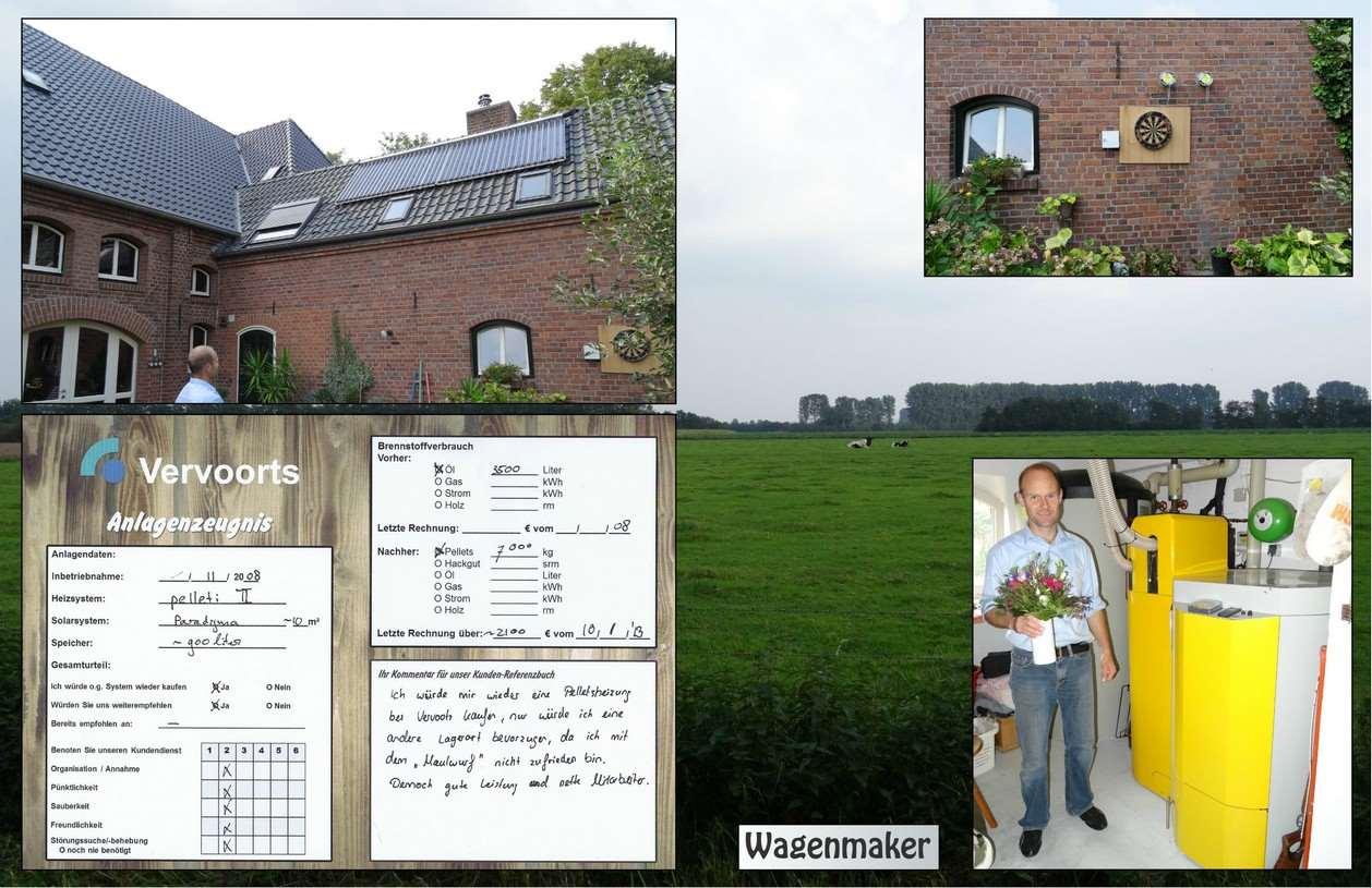 Referenz und Kundenmeinung ueber installierte Pelletheizung von Vervoorts aus Kleve- Kranenburg