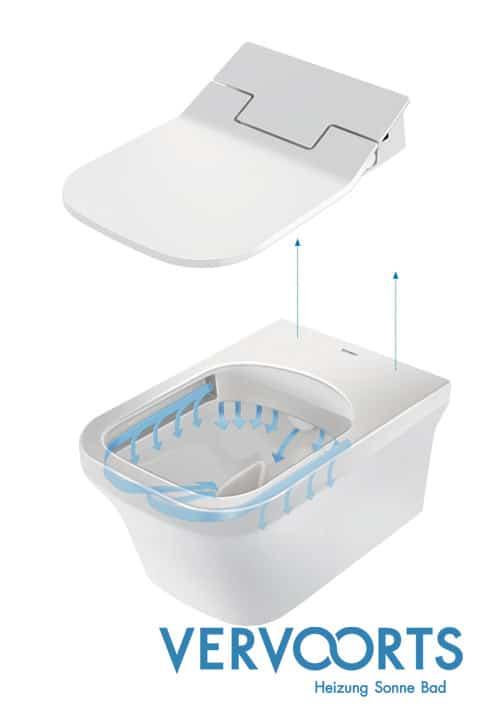 Das Dusch WC bietet Komfort dank moderner Technik