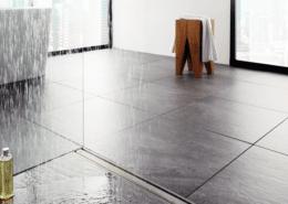 Der Hersteller Viega bietet Duschrinnen im modernen Design an