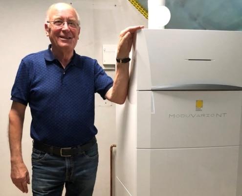 Kundenreferenz Gasbrennwertkessel mit integriertem Trinkwasserspeicher von Vervoorts in Kleve- Kranenburg