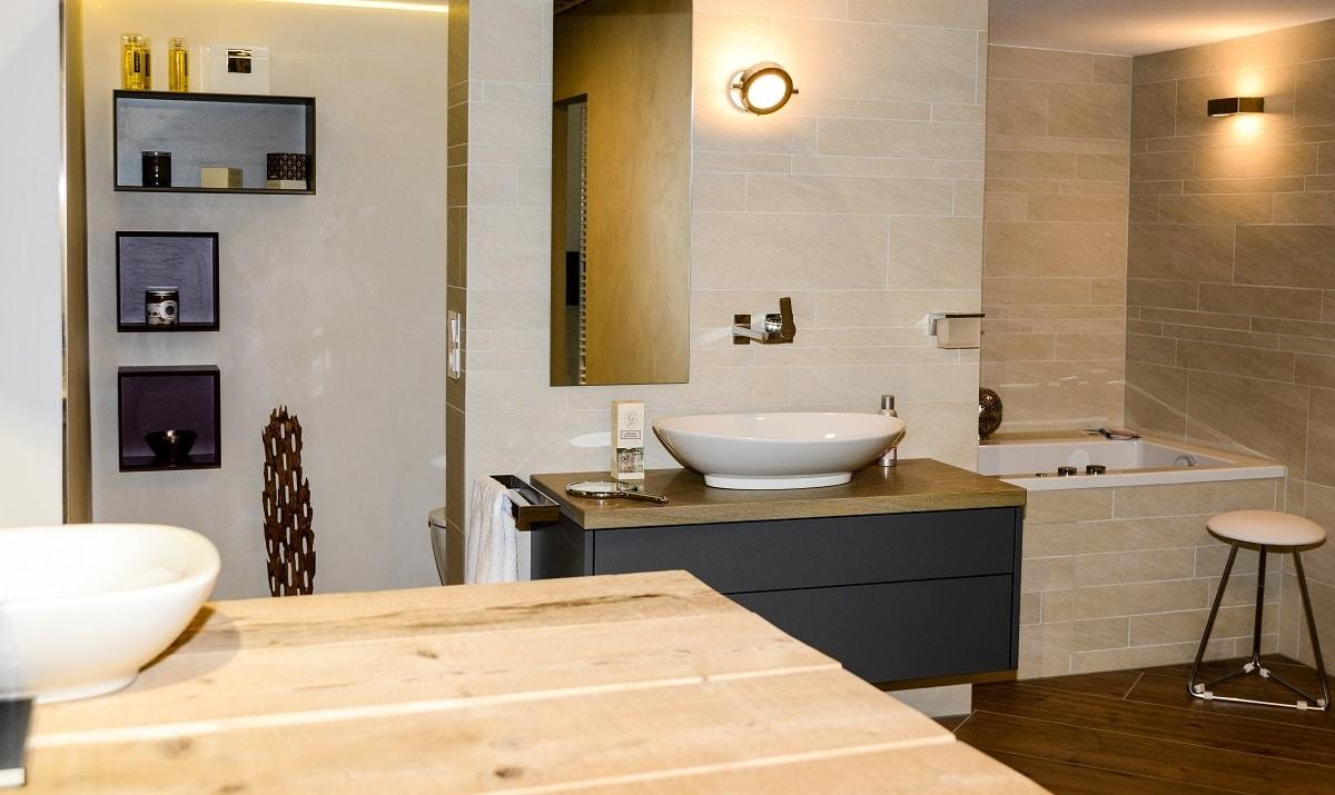 Der dritte Schritt der Badsanierung, der Besuch der Badausstellung mit der sanitären Einrichtung, Vervoorts in Kleve- Kranenburg
