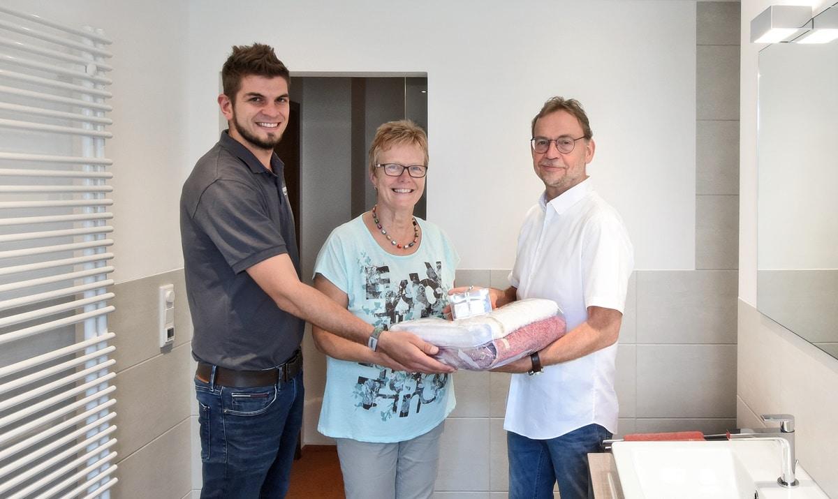 Der sechste Schritt der Badsanierung, die Übergabe des Badezimmers an den Kunden von Vervoorts, in Kleve- Kranenburg
