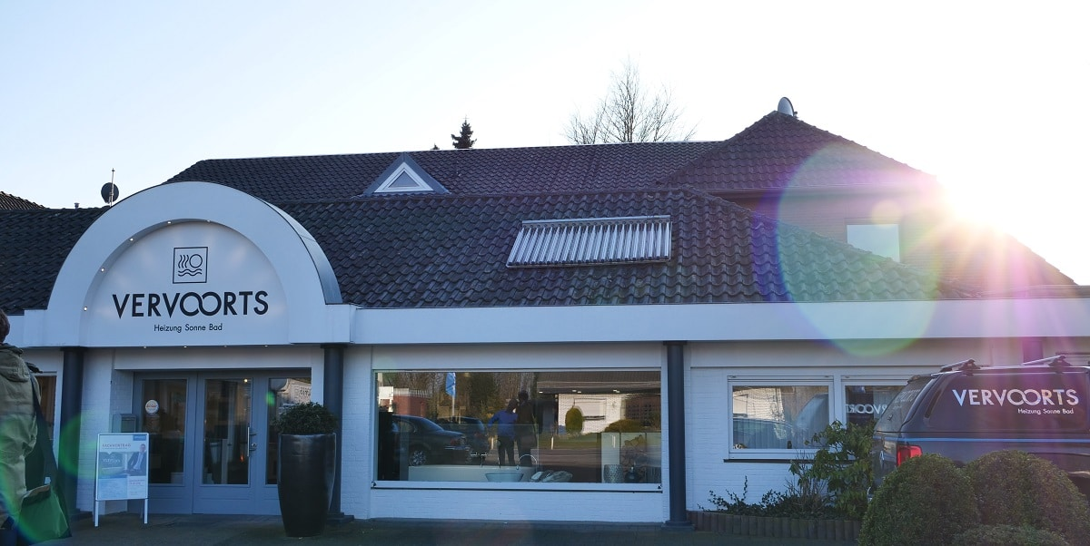 Das Geschäftshaus,heute von Vervoorts Gmbh, in Kleve-Kranenburg