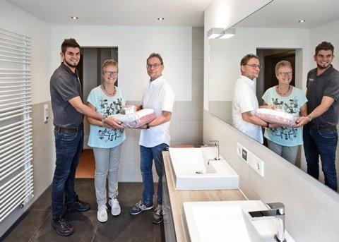 Kundenreferenz Badsanierung Familie Laakmann in Kleve-Griethausen, die Übergabe