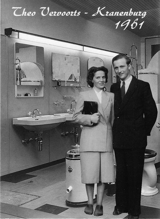 Die Bad- Ausstellung von Vervoorts in Kleve- Kranenburg, im Jahre 1961
