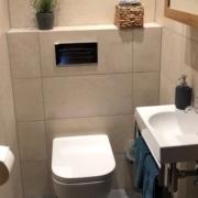 Kundenreferenz Badsanierung in Emmerich am Rhein- das neue Gäste WC von Vervoorts GmbH, Kleve-Kranenburg