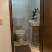 Kundenreferenz Badsanierung in Emmerich, das alte Gäste-WC vor der Sanierung