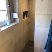Kundenreferenz Badsanierung in Emmerich, das neue Bad im Detail, die Dusche von Vervoorts GmbH in Kleve-Kranenburg